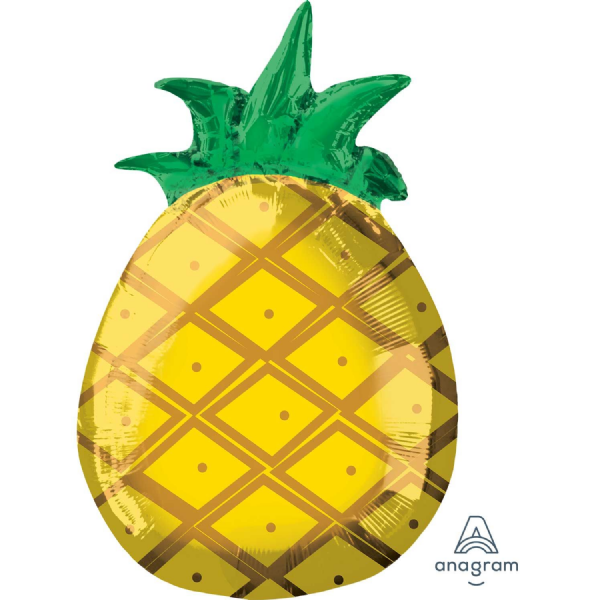 Totally Tropical Pineapple Foil Balloons